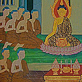 Wall Painting 3 In Wat Po In Bangkok-thailand by Ruth Hager