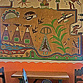 Wall Painting In Painted Desert Inn Cafe In Petrified Forest National Park-arizona  by Ruth Hager