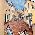Wall Painting In Provence by Dave Mills