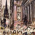 New York Wall Street - Fine Art by Peter Potter