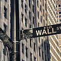 Wall Street Sign by Garry Gay