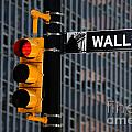 Wall Street Traffic Light New York by Amy Cicconi