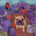 Wallace In The Garden by Lesley Mills