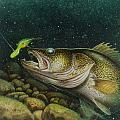 Walleye And Crank Bait by JQ Licensing