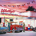 Wallys Service Station by Bruce Kaiser