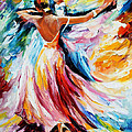 Waltz - Palette Knife Oil Painting On Canvas By Leonid Afremov by Leonid Afremov