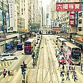 Wan Chai Street View In Hong Kong by Tuimages