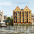 Wapping Thames Police Station And Rebuilt St Johns Wharf London by Mackenzie Moulton