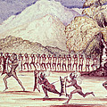 War Dance, Illustration From The Albert Nyanza Great Basin Of The Nile By Sir Samuel Baker, 1866 Wc by Sir Samuel Baker