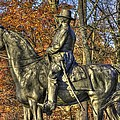 War Horses - Major General John Sedgwick Commanding Sixth Corps Autumn Gettysburg by Michael Mazaika