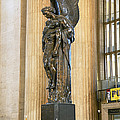 War Memorial At A Railroad Station by Panoramic Images