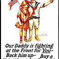 War Poster - Ww1 - Daddy by Benjamin Yeager