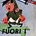 War Poster - Ww2 - Out With The Fuhrer by Benjamin Yeager