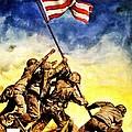 War Poster - Ww2 - Iwo Jima by Benjamin Yeager