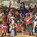 War Scene Oil On Panel Detail Of 242453 by Sebastian Vrancx
