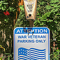 Veteran Parking Sign by Nick Gray