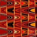 Warm Colors Lines And Swirls Abstract by Carol Groenen