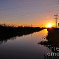 Warm Rural Sunset by Kaye Menner