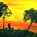 Warm Sunset by John Junek