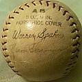 Warren Spahn Baseball Autograph by Lois Ivancin Tavaf