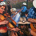 Washboard Lissa On Fiddle by Beverly Boulet