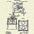 Washing Machine 1887 Patent Art by Prior Art Design