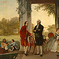 Washington And Lafayette At Mount Vernon by Rossiter and Mignot