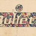 Washington Bullets Retro Poster by Florian Rodarte