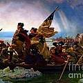 Washington Crossing The Delaware River by Doc Braham