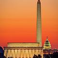 Washington Dc Dawn by Brian Jannsen