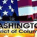 Washington Dc Patriotic Large Cityscape by Angelina Vick