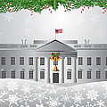 Washington Dc White House Christmas Scene Illustration by Jit Lim