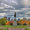 Washington In The Public Garden by Joann Vitali