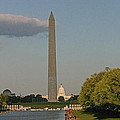 Washington Monument And Capitol Building-2 by Hugh Carino