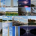 Washington Monument Collage 2 by Allen Beatty