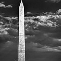 Washington Monument In Cloudy Sky by Izet Kapetanovic
