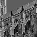 Washington National Cathedral  Bw by Susan Candelario