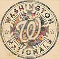 Washington Nationals Vintage Art by Florian Rodarte