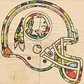Washington Redskins Helmet Poster by Florian Rodarte