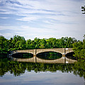 Washington Road Bridge Over Lake Carnegie Princeton by Bill Cannon