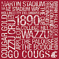 Washington State College Colors Subway Art by Replay Photos