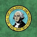 Washington State Flag by World Art Prints And Designs
