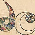 Washington Wizards Logo Vintage by Florian Rodarte