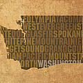 Washington Word Art State Map On Canvas by Design Turnpike