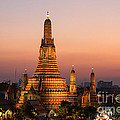 Wat Arun At Sunset - Bangkok by Matteo Colombo