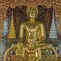 Wat Chai Monkol Phra Ubosot Buddha Images Dthcm0849 by Gerry Gantt
