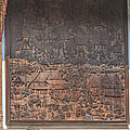 Wat Chai Monkol Phra Ubosot Diorama Of Village Life Dthcm0856 by Gerry Gantt