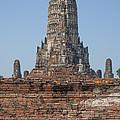 Wat Chaiwatthanaram Ubosot Platform And Buddha Images Dtha0189 by Gerry Gantt