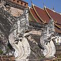 Wat Chedi Luang Phra Chedi Luang Five-headed Naga Dthcm0052 by Gerry Gantt