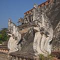 Wat Chedi Luang Phra Chedi Luang Five-headed Naga Dthcm0054 by Gerry Gantt